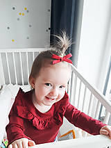 Detské doplnky - gumička mašľa - 11585515_