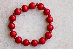 Náramky - Červené bobule - 11585114_