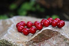 Náramky - Červené bobule - 11585116_