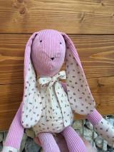 Hračky - zajko ružový - 11585446_