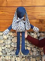 Hračky - zajko modrý - 11585485_