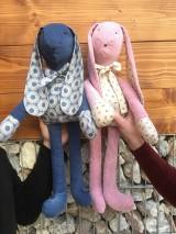 Hračky - zajko modrý - 11585488_