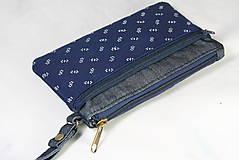 Taštičky - Modrotlačová taštička na mobil a peniaze  Iris 1 - 11585639_