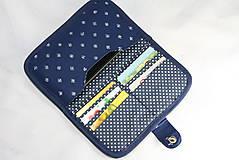 Taštičky - Mordotlačový obal na mobil a karty Zita 3 - 11585760_