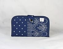 Taštičky - Mordotlačový obal na mobil a karty Zita 3 - 11585772_