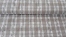 Textil - Béžovo-biela kocka - kanafas - 11586232_
