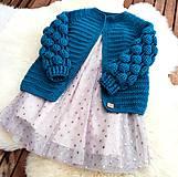 Detské oblečenie - Svetrík s bublinkovymi rukávmi  - 11585451_