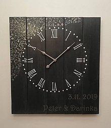 Hodiny - Nástenné hodiny veľké - svadobné - 11589597_
