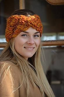 Ozdoby do vlasov - melír v oranžových - 11587607_