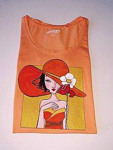 Tričká - Dámske tričko, oranžové, XS - 11588768_