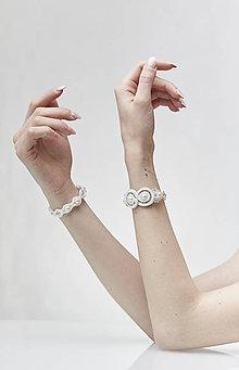 Náramky - Svadobný šujtášový náramok Valentína - 11590043_