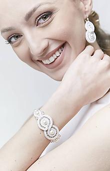 Náušnice - Svadobné šujtášové náušnice so perličkami Valentína - 11590094_