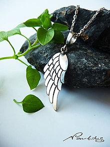"""Náhrdelníky - Strieborný šperk Ag925 """"Krídlo ANJELA"""" - 11589515_"""