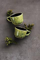 Nádoby - Keramický hrnček zelený - 11589372_