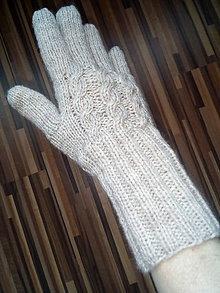 Rukavice - Ručne pletené rukavice - 11588794_