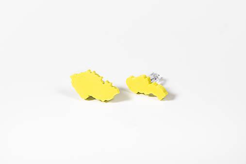 Československo - náušnice (Žltá)