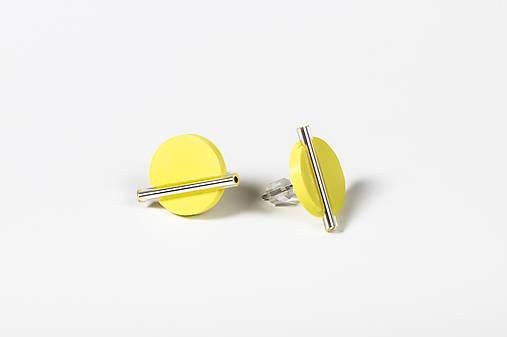 Minimal- náušnice (Žltá)