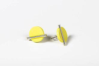 Náušnice - Minimal- náušnice (Žltá) - 11590438_