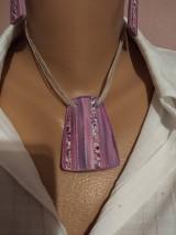Sady šperkov - ružový a modrý náhrdeľník a náušnice - 11589818_