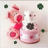 Detské doplnky - Plienková torta ŠŤASTIE - 11587850_