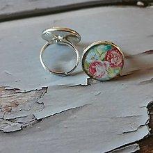 Prstene - Živicový prstienok - kvety - 11588922_