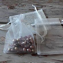 Obalový materiál - Organzové vrecúška  (9x12cm) - 11588960_