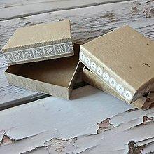 Obalový materiál - Papierové krabičky 7x7x2cm - 11589046_