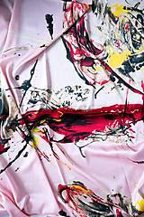 Šatky - Hodvábna štvorcová šatka ART - 11588285_