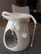 Sady šperkov - SADA PERLIČKOVÁ 2 (naušnic, náramku, náhrdelníka a retiazky s príveskom) - 11590282_