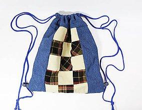 Batohy - Recyklovaný denim batoh - 11588175_