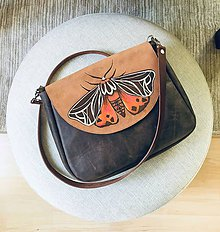 "Kabelky - TALIA ""Moth"" kožená kabelka s klopou - 11589150_"