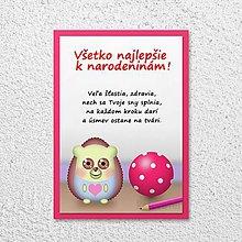 Papiernictvo - Detská izba - pohľadnica pre deti (ježko) - 11590396_