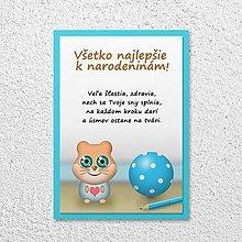 Papiernictvo - Detská izba - pohľadnica pre deti (škrečok) - 11590397_