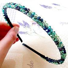Ozdoby do vlasov - Elegant Bicone Beaded Headband / Elegantná čelenka s bicone korálkami /S0011 - 11591492_