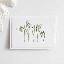 Papiernictvo - Pohľadnica, snežienky - 11590721_