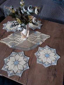 Úžitkový textil - Háčkovaná súprava - 11591134_