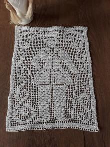 Úžitkový textil - Dečka háčkovaný mužíček - 11592077_