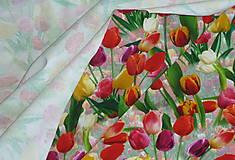Textil - Tulipány úplet digi - 11591222_