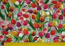 Textil - Tulipány úplet digi - 11591223_