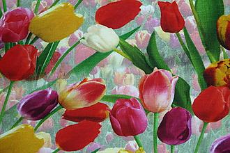 Textil - Tulipány úplet digi - 11591217_