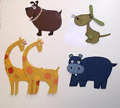 Detské doplnky - Textilné dekorácie zvieratká - 11593641_