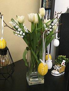 Dekorácie - obháčkované vajíčka na Veľkú noc - 11591680_