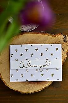 Papiernictvo - Ľúbim ťa (Srdiečka) - 11594226_