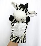 Hračky - Maňuška zebra - na objednávku - 11594106_