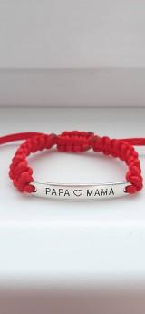 Náramok Papa - Mama 1
