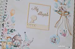 Papiernictvo - Detský fotoalbum - pre chlapčeka (so zvieratkami) - 11591589_