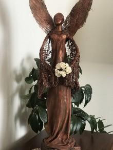 Socha - Anjel s ružami . - 11593335_