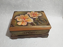 Krabičky - Zelená šperkovnica - 11590761_
