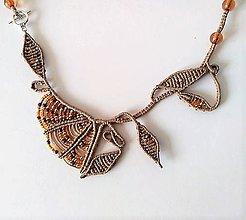 Náhrdelníky - Makramé asymetrický náhrdelník Kvet - 11591118_