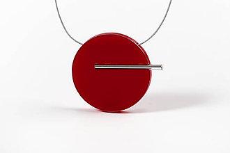 Náhrdelníky - Minimal náhrdelník (Červená) - 11591180_